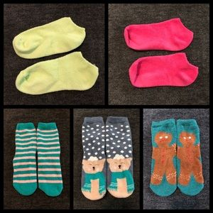 Fuzzy sock lot bundle